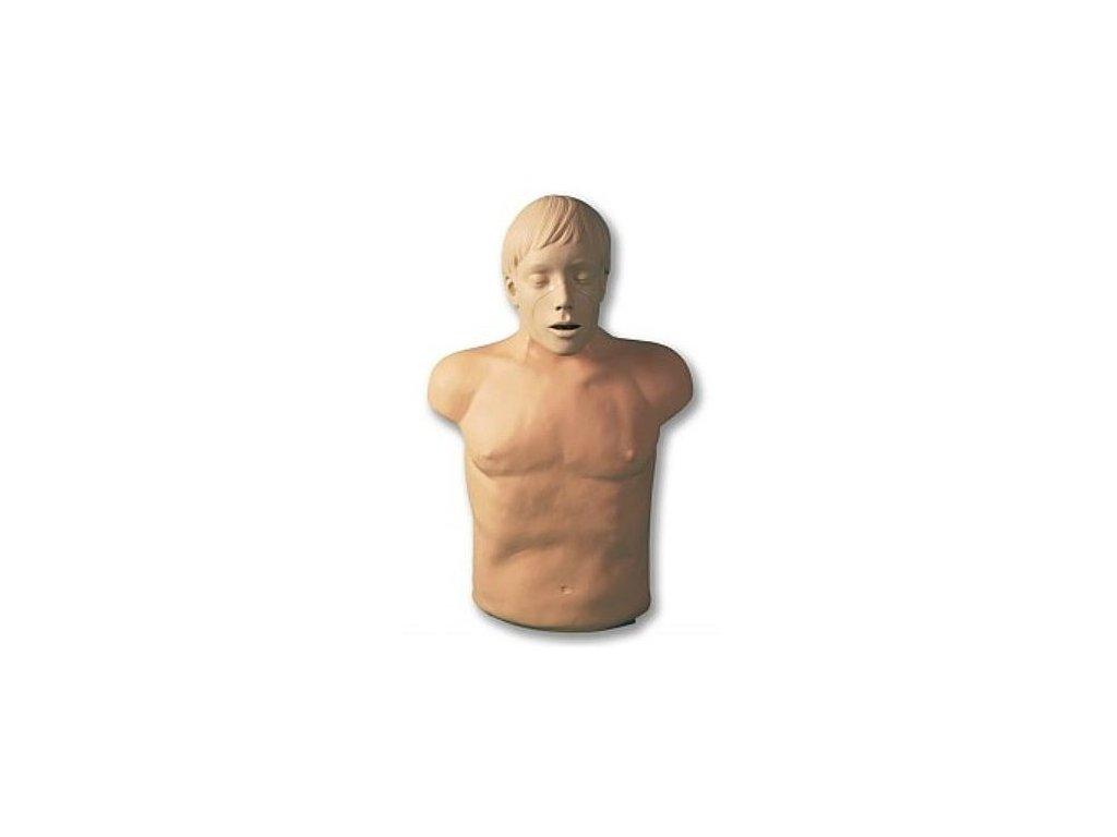 Resuscitační výcviková figurína Paul s elektronikou a přenosným vakem