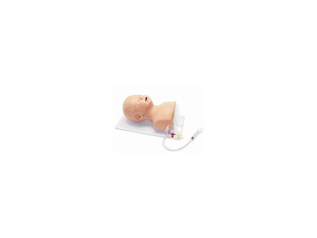 Zdokonalená dětská hlava pro intubaci