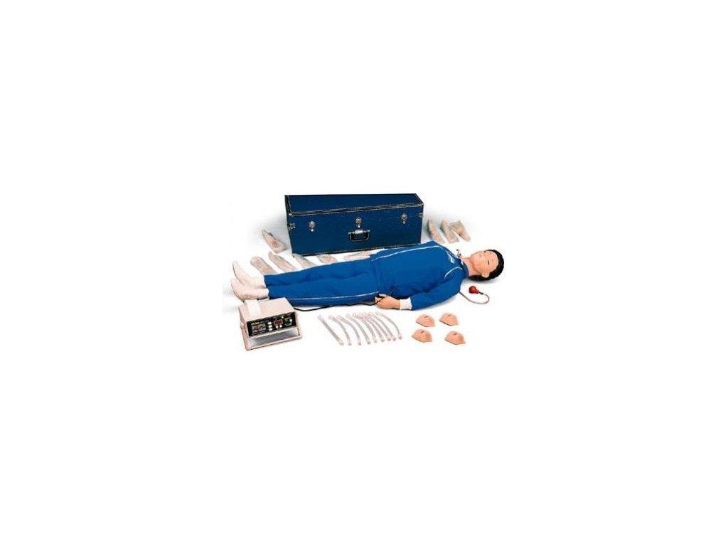 Elektronická resuscitační figurína celého těla s monitorovací a paměťovou jednotkou