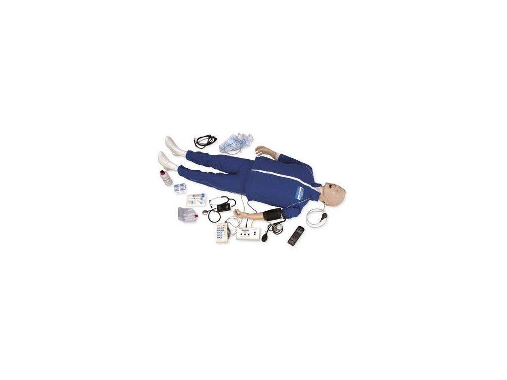 Figurína dospělého pro nácvik auskultace v krizových stavech s EKG simulátorem