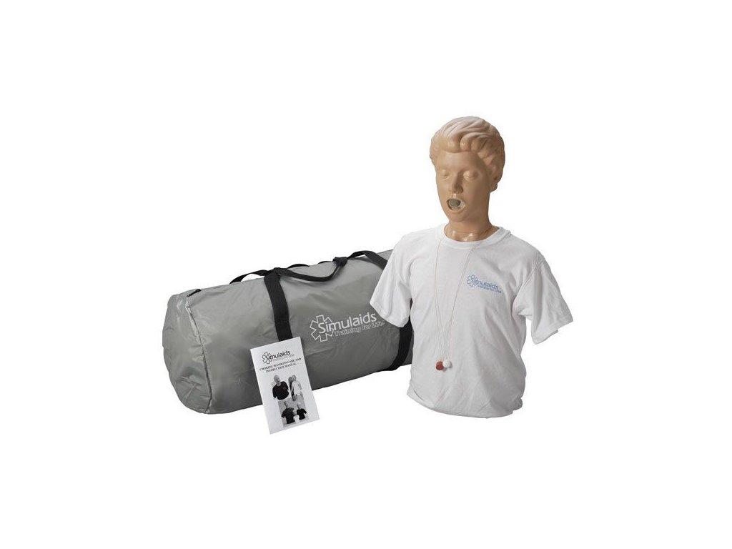 Figurína dospělého pro nácvik odstraňování cizích předmětů z dýchacích cest