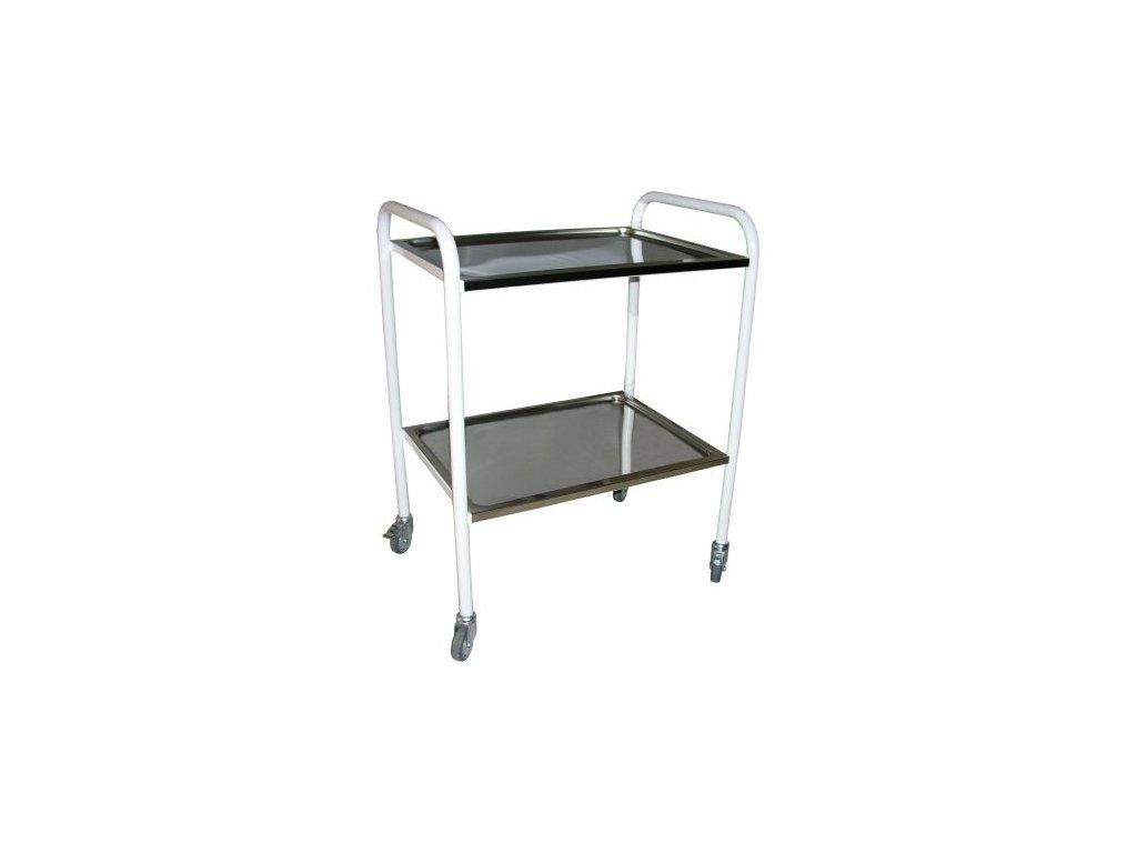 Nástrojový stolek lakovaný s madly a dvěma platy
