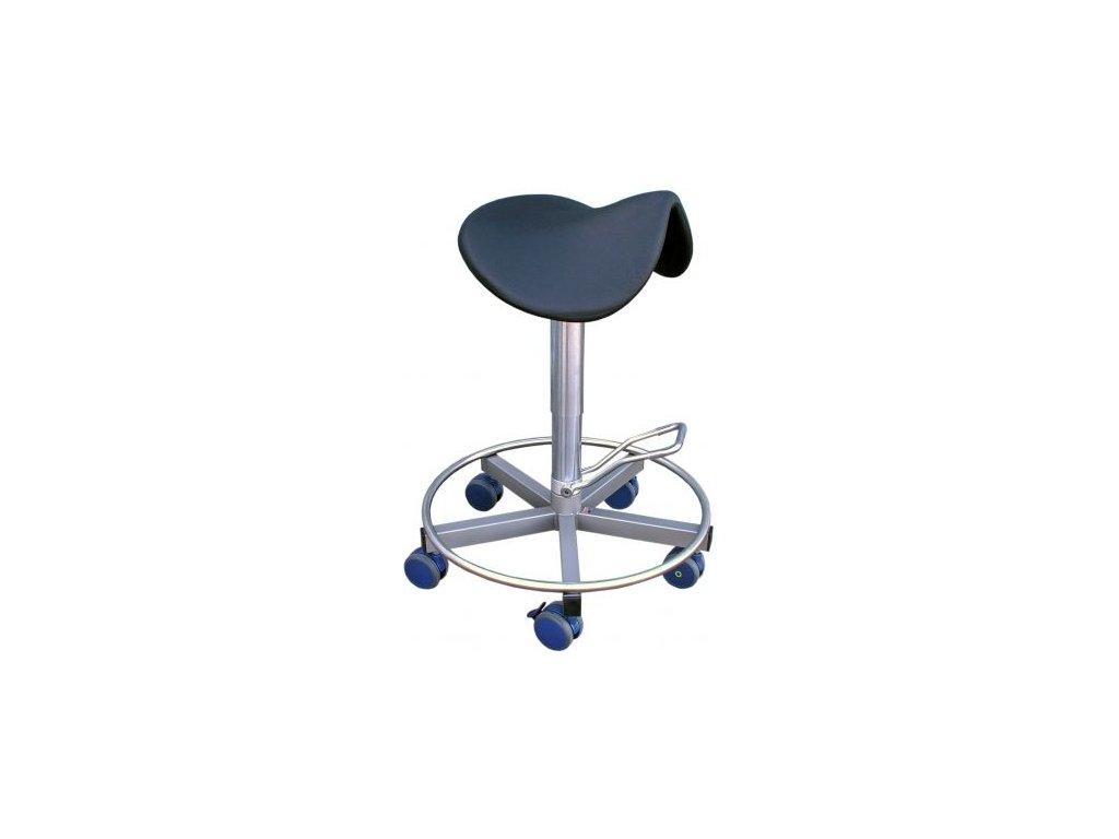 Chirurgická hydraulická  sedačka ve tvaru sedla