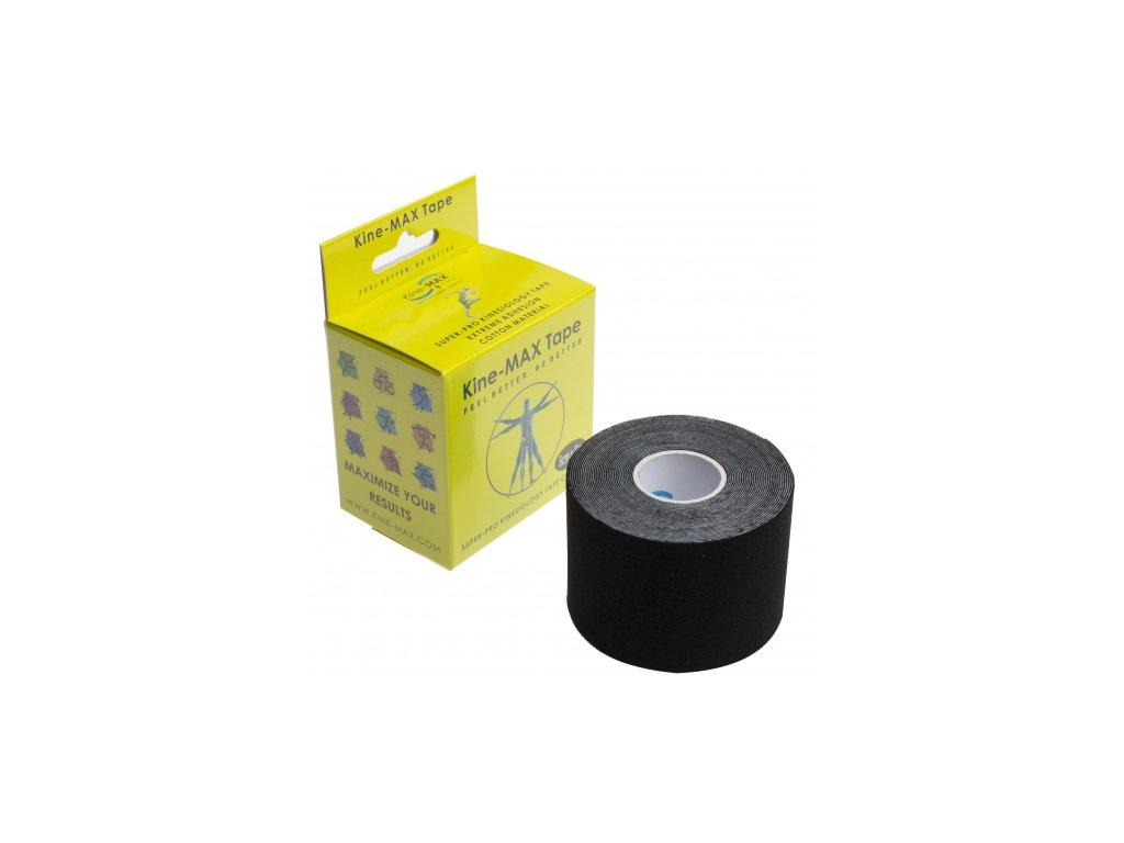 Kine-MAX Super-Pro Cotton - Kinesiologický tejp černý