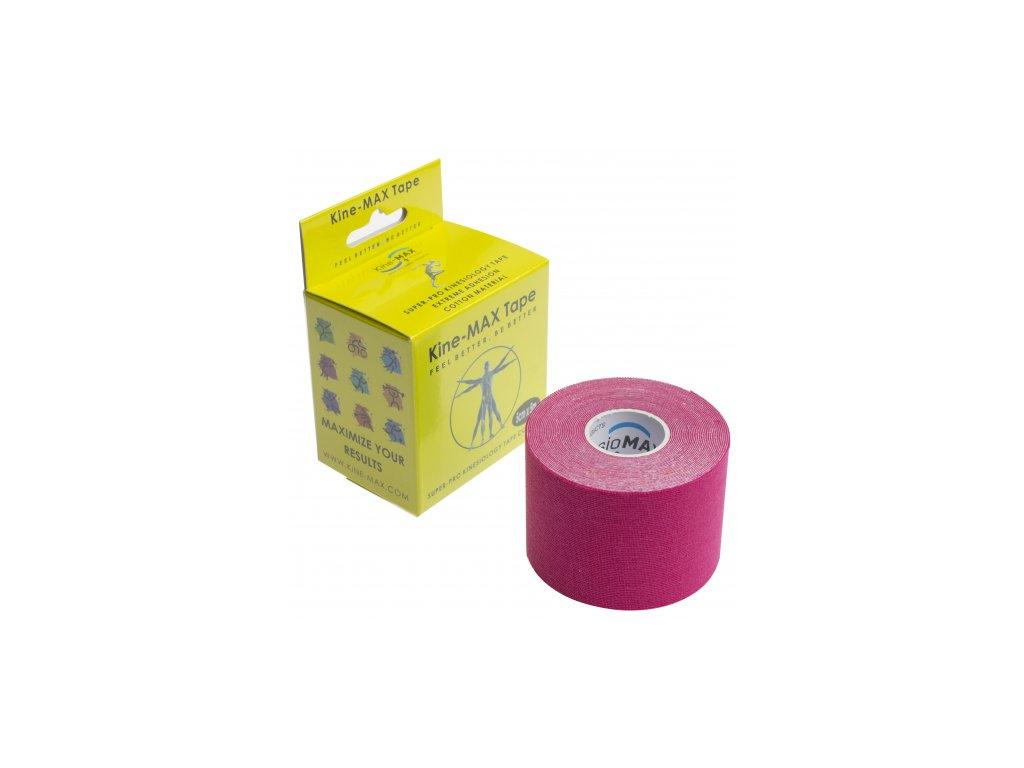 Kine-MAX Super-Pro Cotton - Kinesiologický tejp růžový