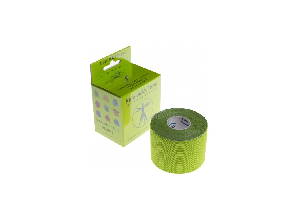 Kine-MAX Super-Pro Rayon - Kinesiologický tejp (Zelený)