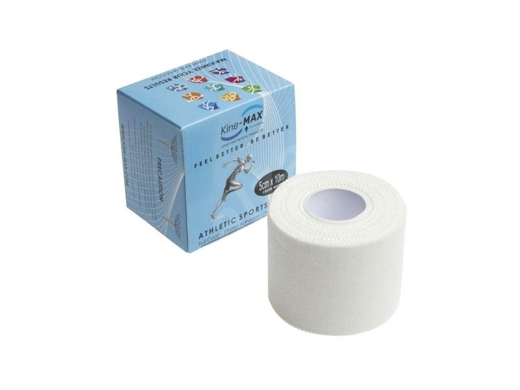 Kine-MAX Sport Tape - Neelastická tejpovací páska Full Coat 5cm x 10m bílá