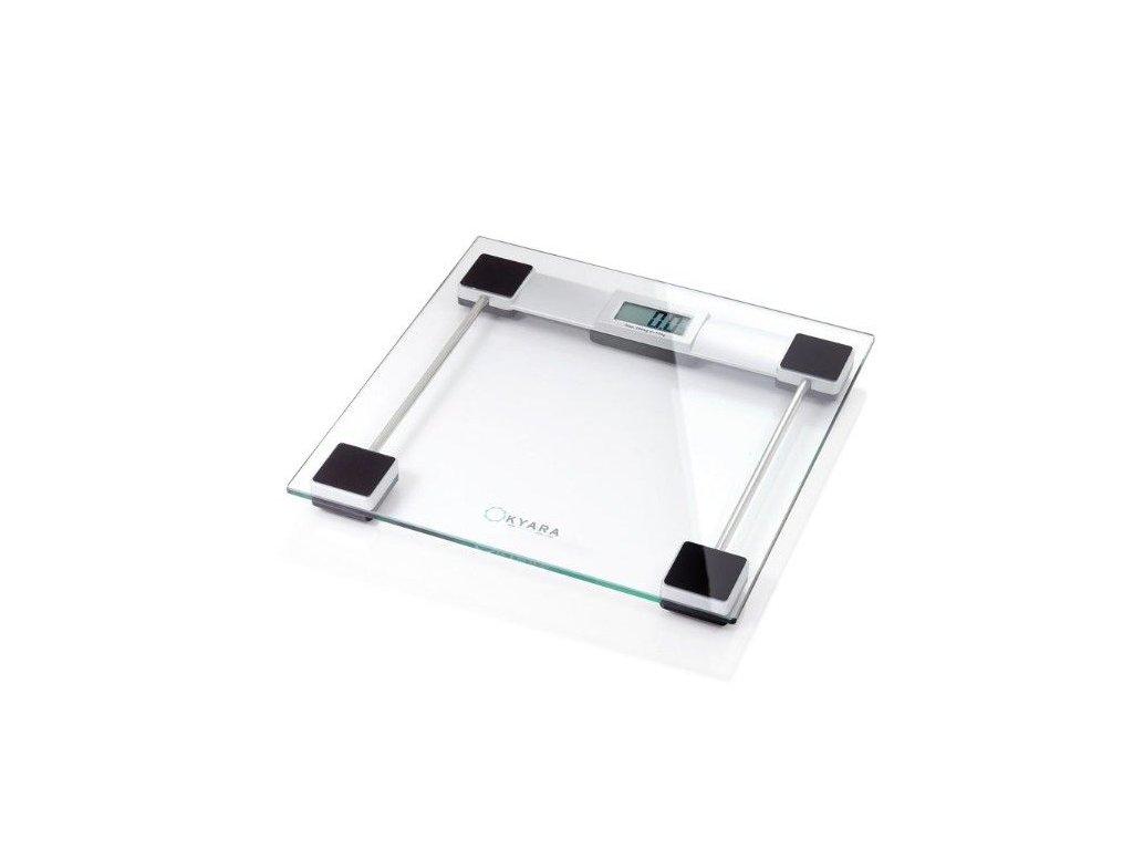 Osobní váha se skleněnou plošinou