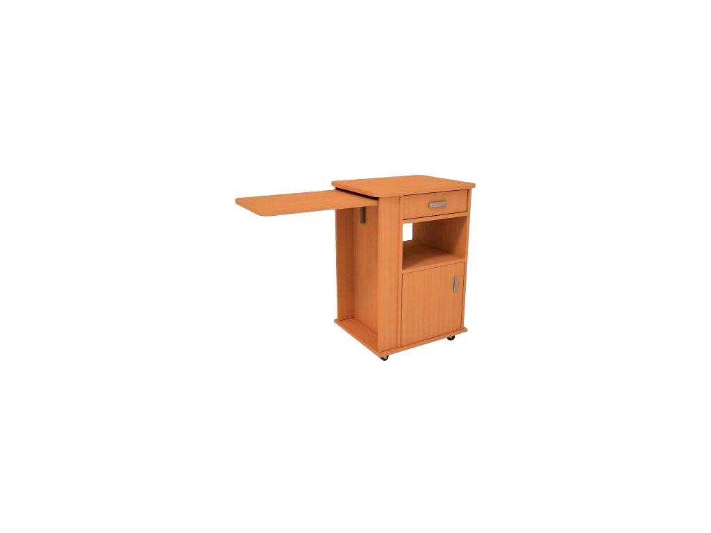 Noční stolek se sklopnou tabulí