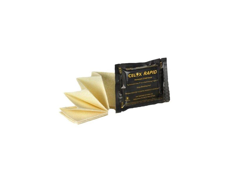 CELOX RAPID - gáza skládaná napuštěná hemostatikem, bal. 7,6 cm x 1,5 m