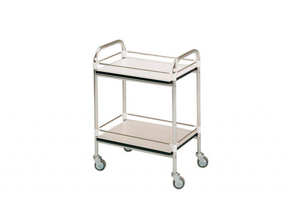 Víceúčelový vozík hliníkový se zábradlím 60x90x80 cm
