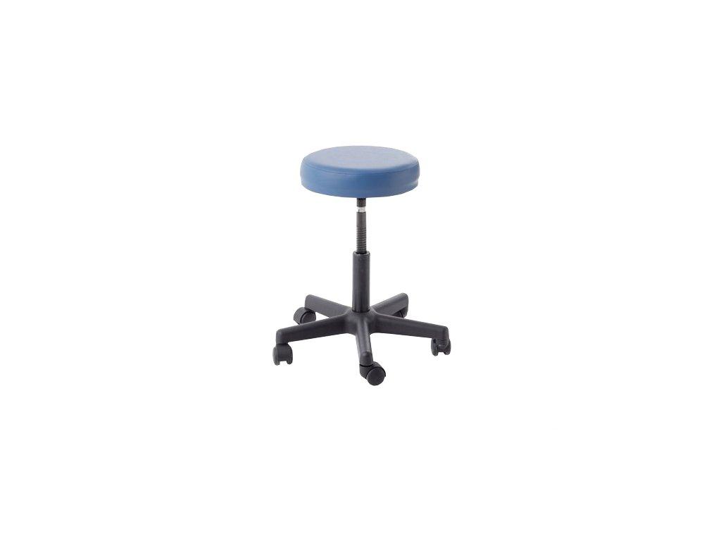 Pracovní stolička plastová s pěnovým sedákem a závitem
