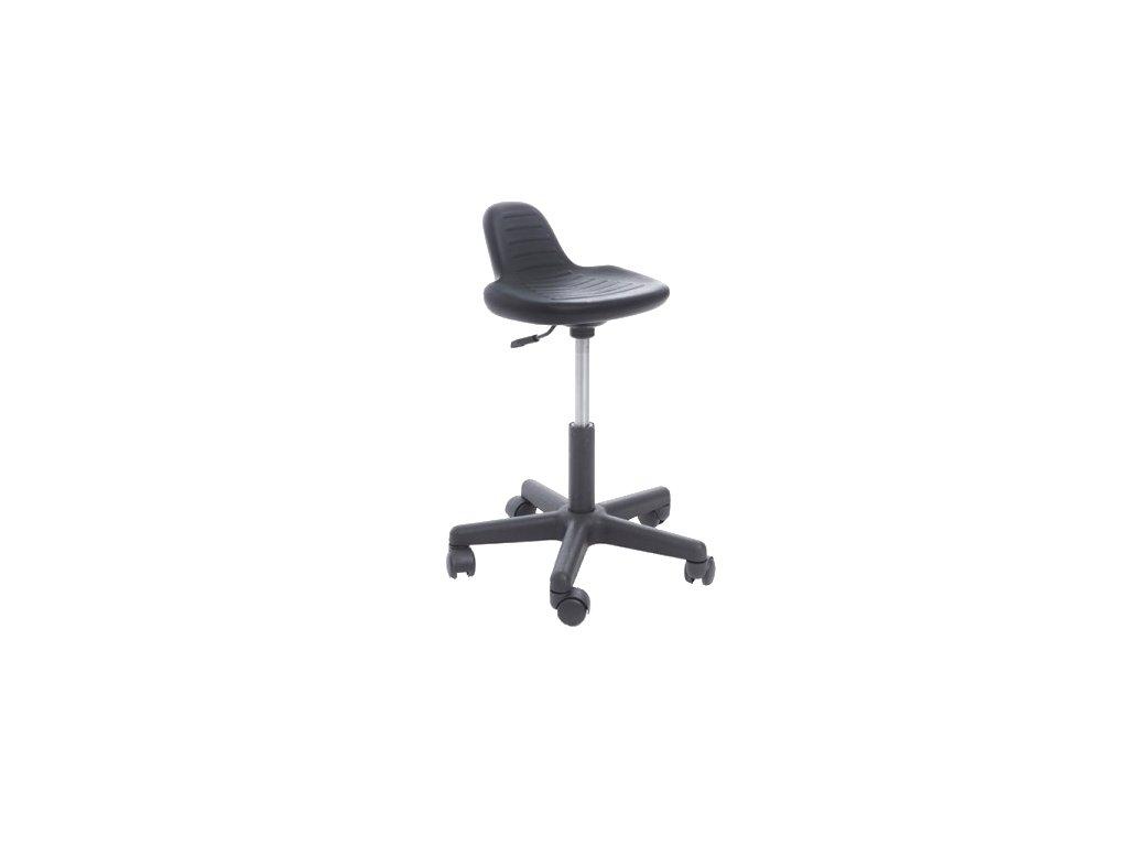 Pracovní stolička otočná s plastovým sedákem a opěradlem