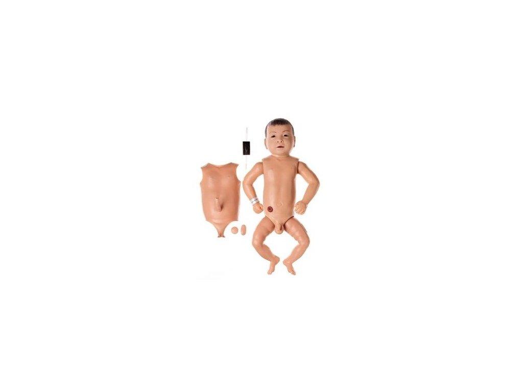 Nemocniční cvičná figurína dítěte