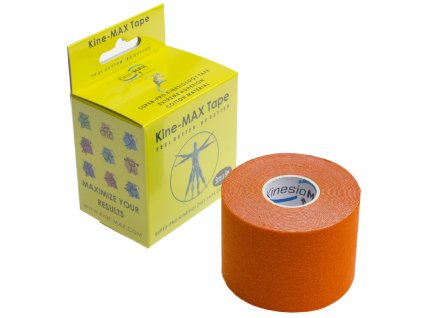 Kine-Max Super-Pro Cotton kineziologický tejp oranžová 5 cm x 5 m