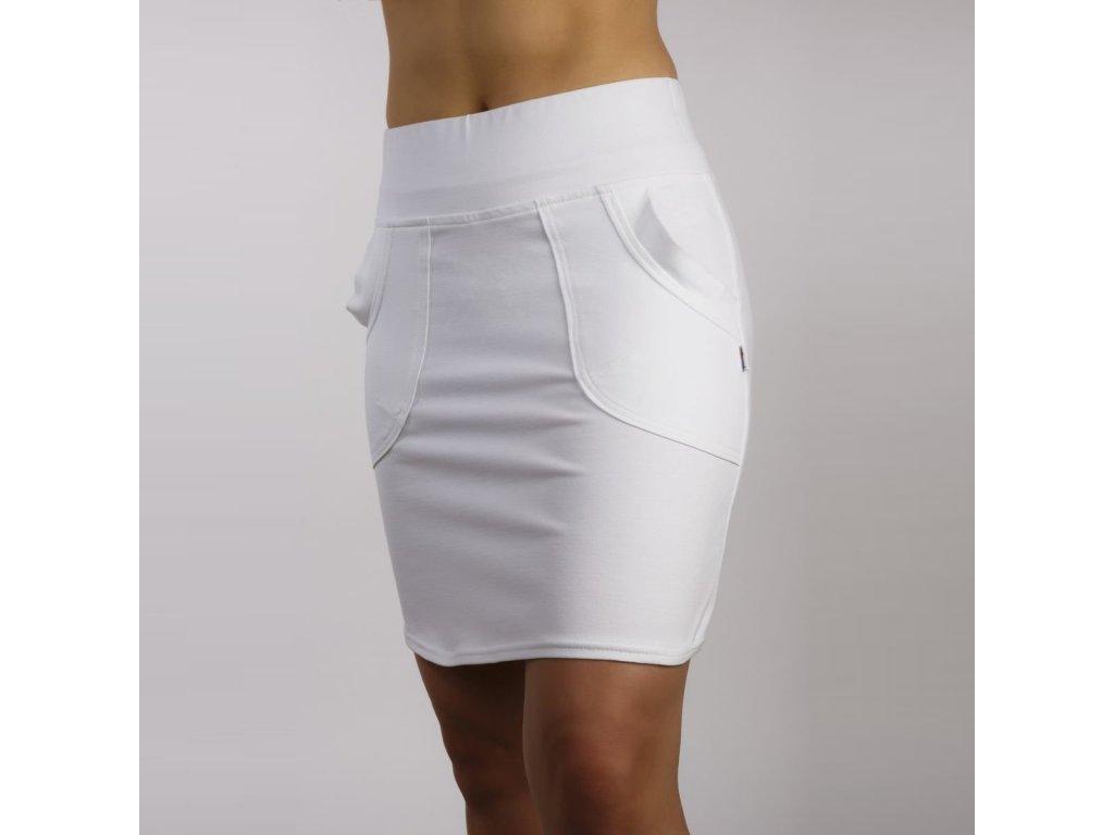 damska sukne SERENA z elastickeho upletu bila 01
