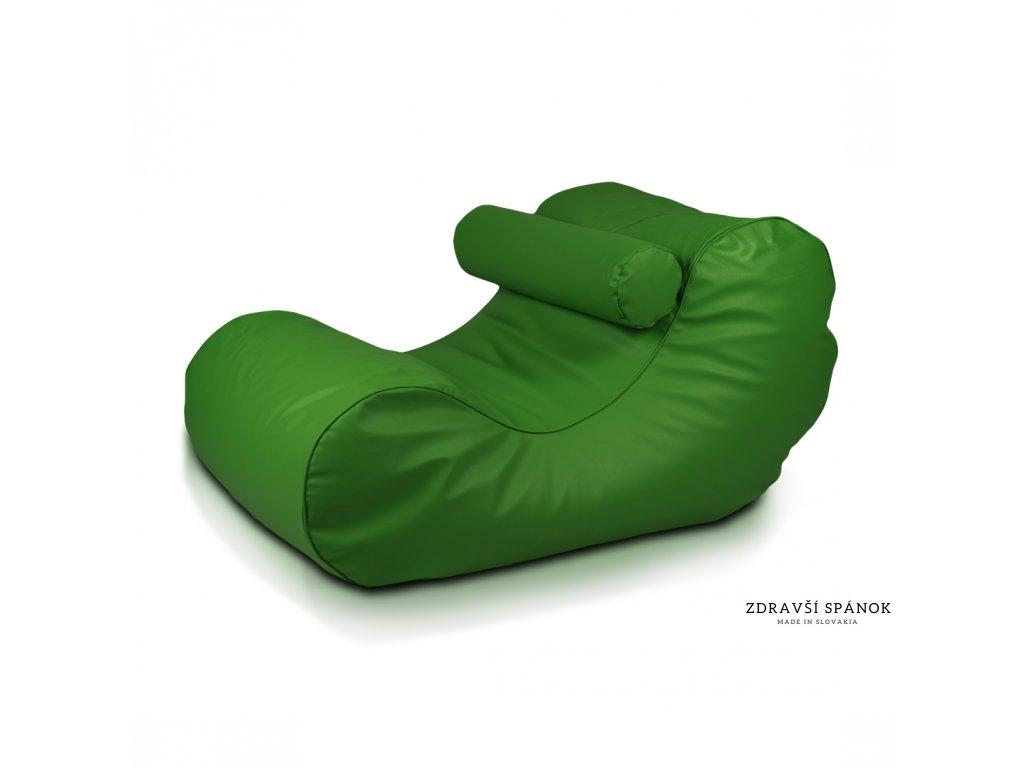 Sedací vak HOGAN 9 - Zelená tmavá (Ekokoža)