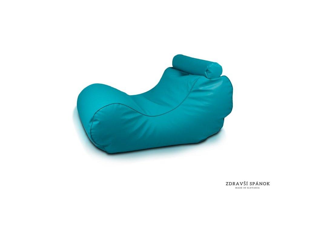 Sedací vak HOGAN 20 - Zeleno-modrá (tyrkysová) (Ekokoža)