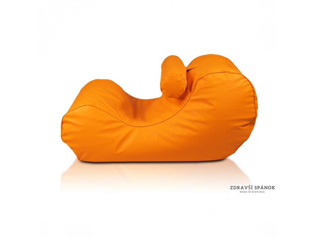 Sedací vak HOGAN 4 - Oranžová pomaranč (Ekokoža)