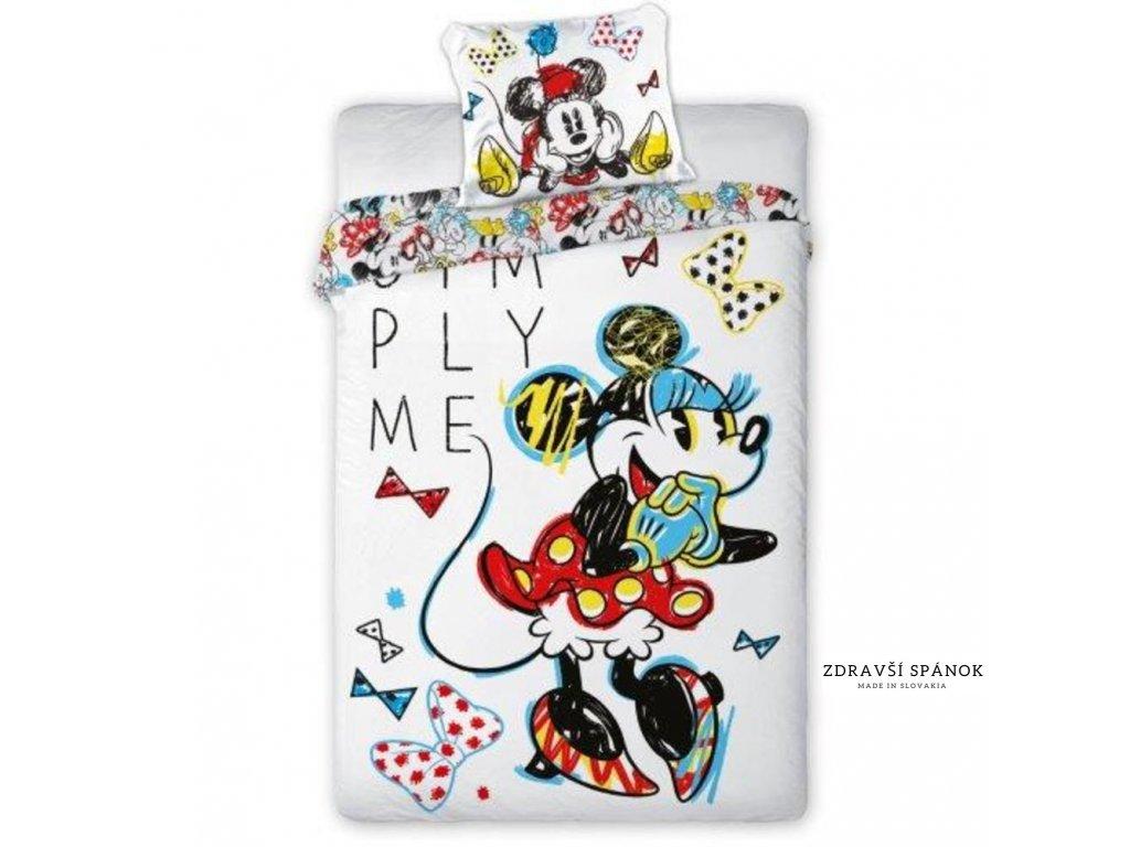 minnie mouse bedset 140x200 cm