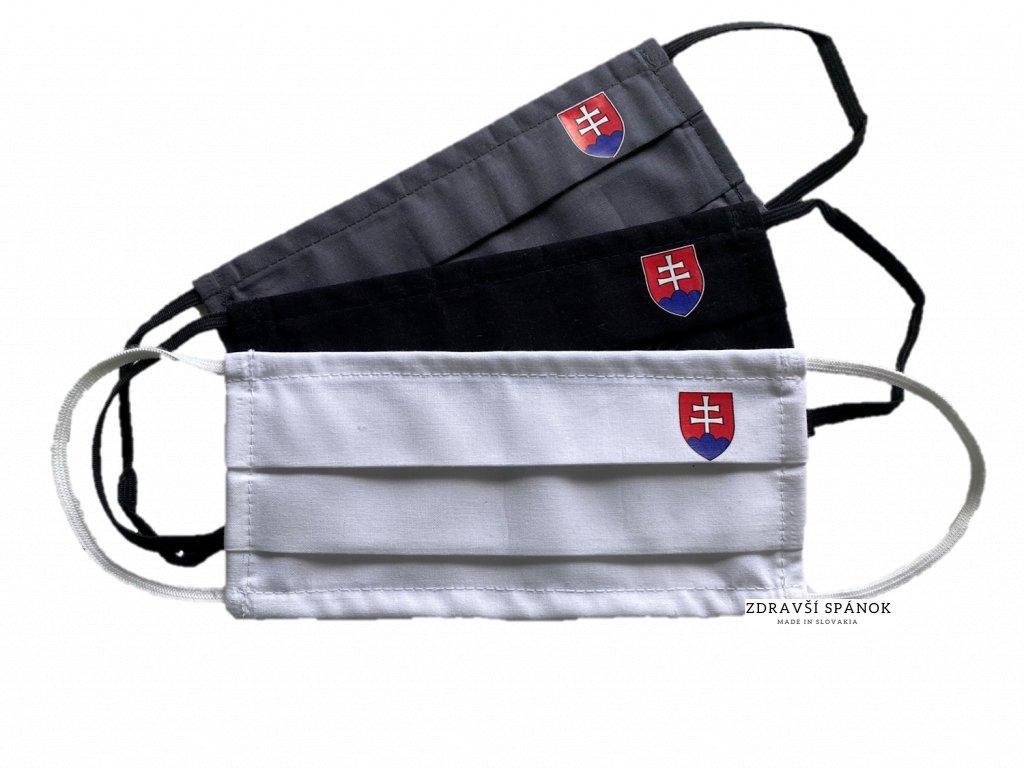 Ochranné bavlnené rúško Slovenský znak