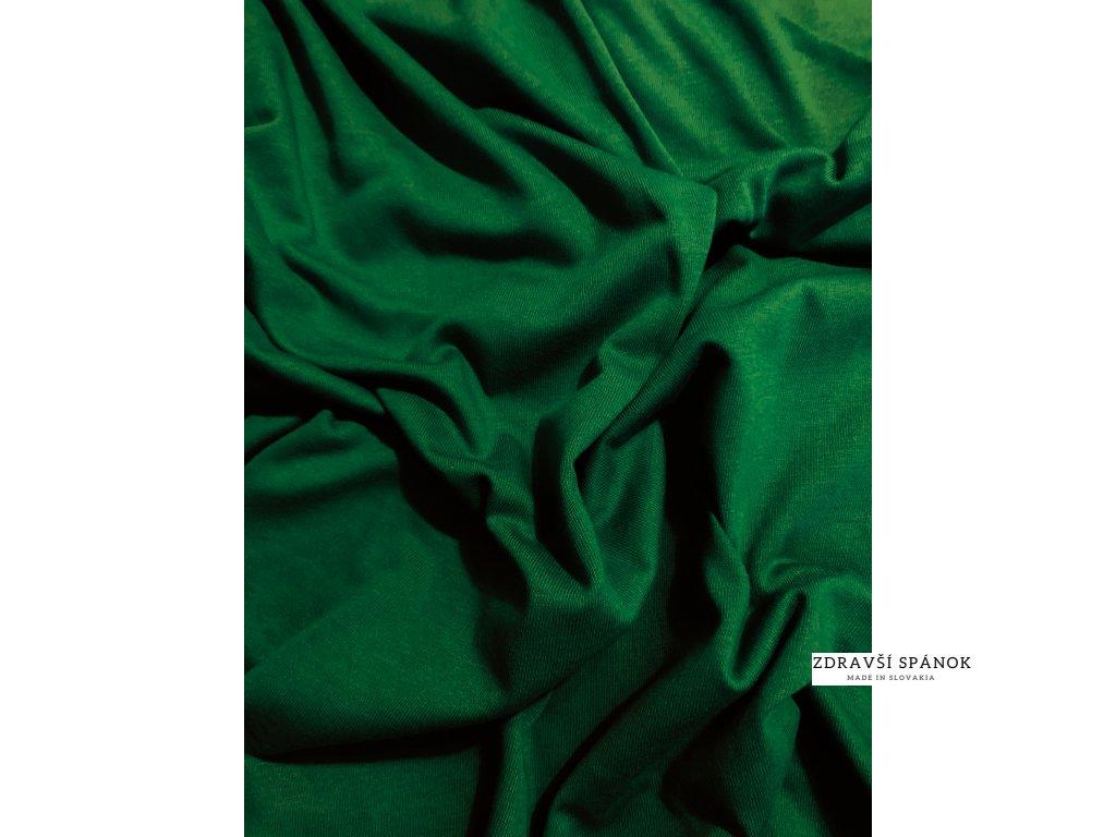 Posteľná plachta Jersey 034-Zelená 90x200 cm