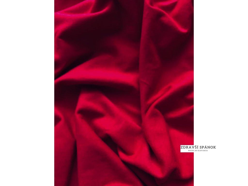 Posteľná plachta Jersey 030-Červená 180x200 cm