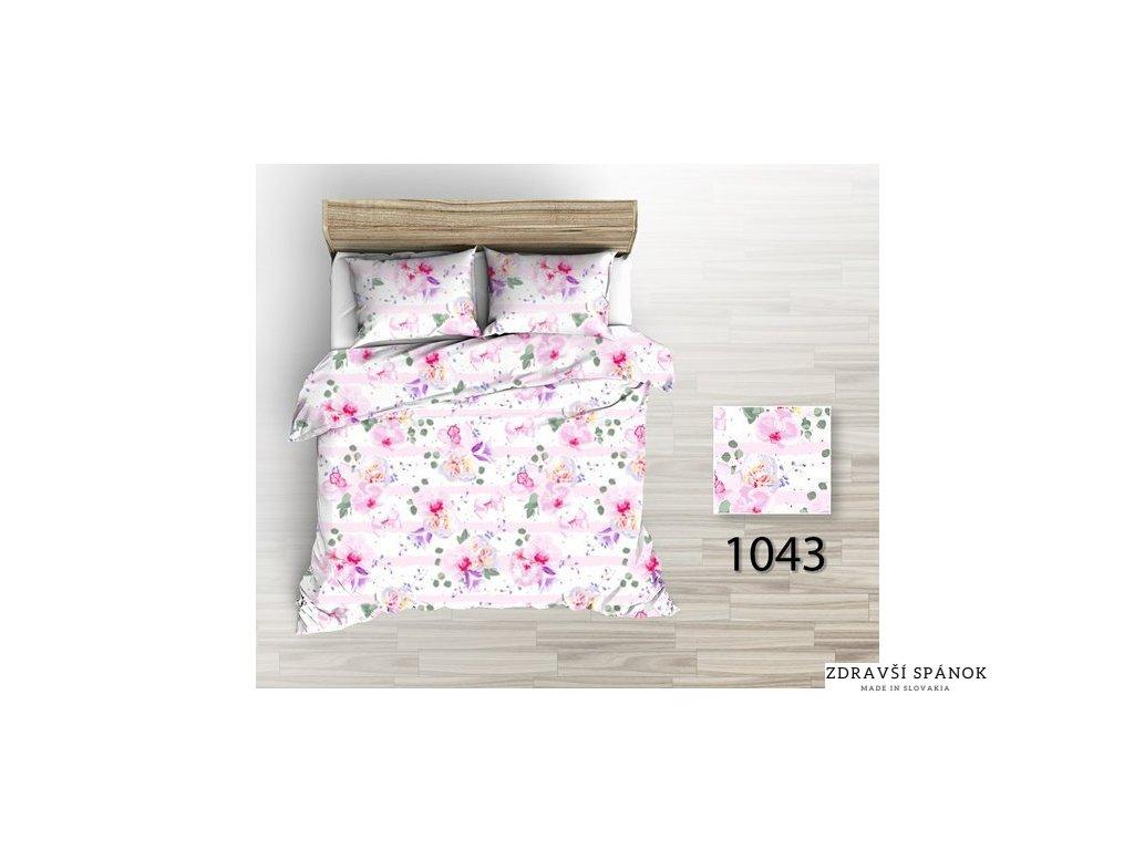 Posteľná obliečka Painted Flowers 200x220/2x 70x90 cm