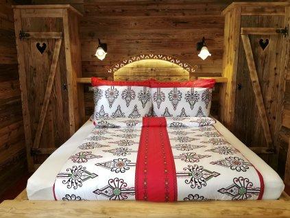 Posteľná obliečka Folklór Modern červený 140x200/70x90cm