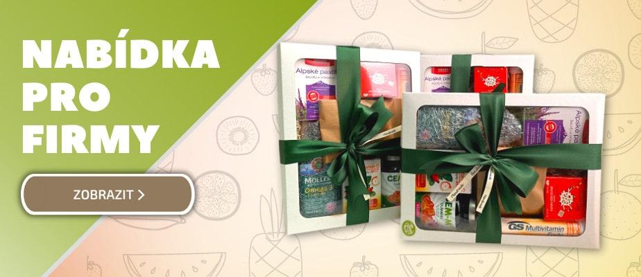 Vitamínové balíčky a dárkové koše pro firmy