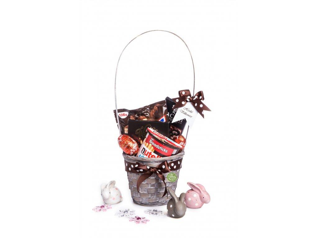 Velikonoční dárkový koš Čokoláda
