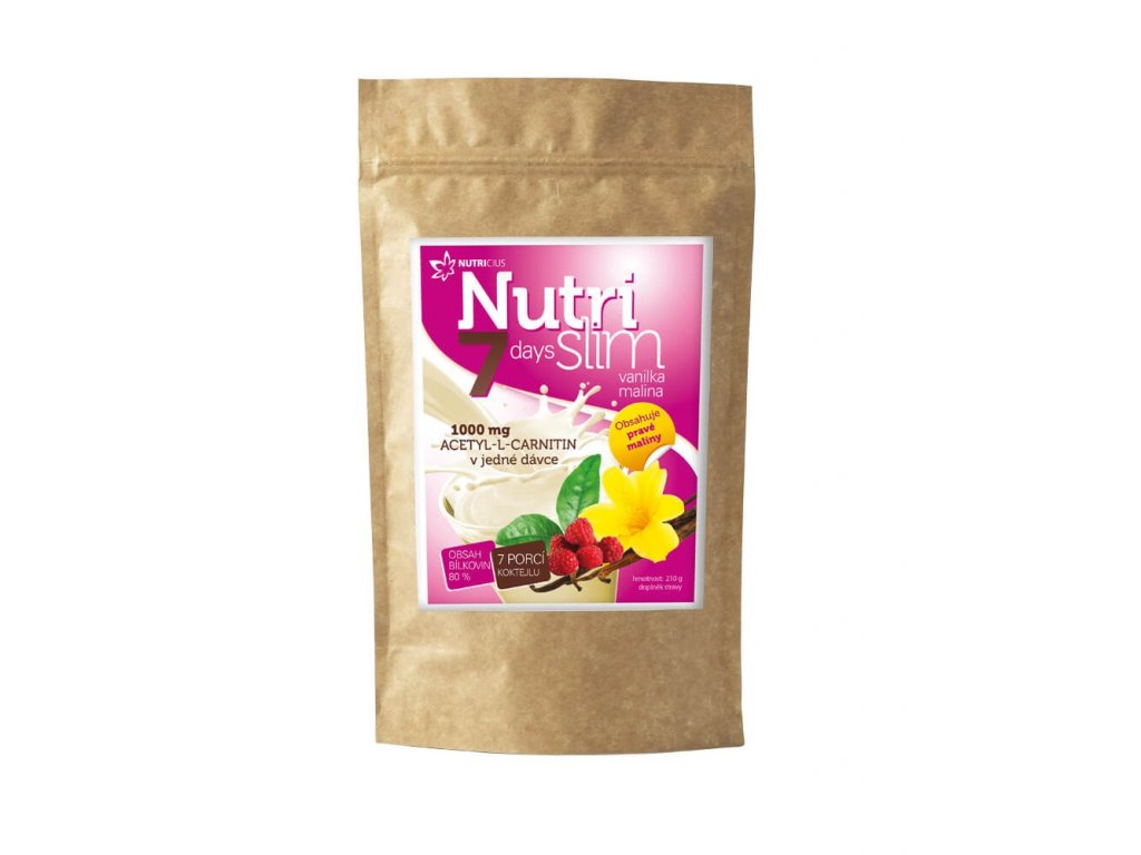 nutrislim vanilka malina 210 g