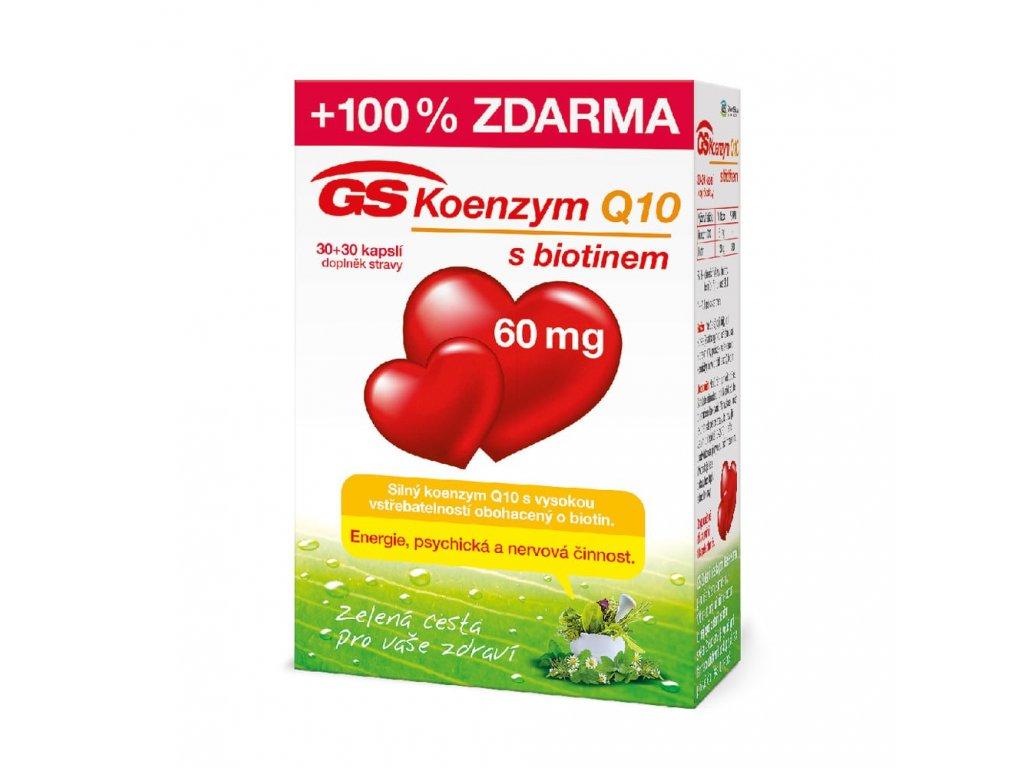 GS Koenzym Q10 s biotinem 60mg 30 30 kapsli min