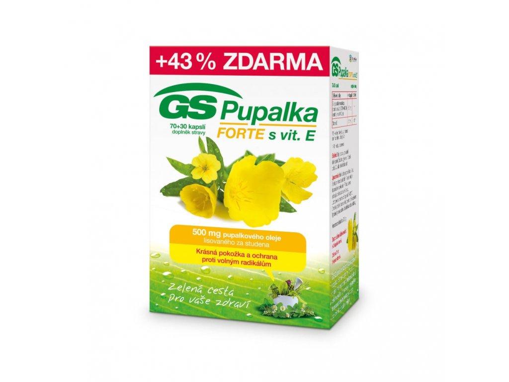 GS Pupalka FORTE s vitaminem E 70 30 kapsli min