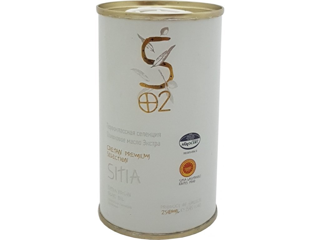 critida extra pan oliv olej sitia pdo 250 ml bily plech