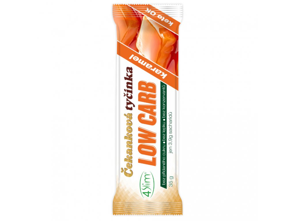 4slim cekankova tycinka low carb karamel