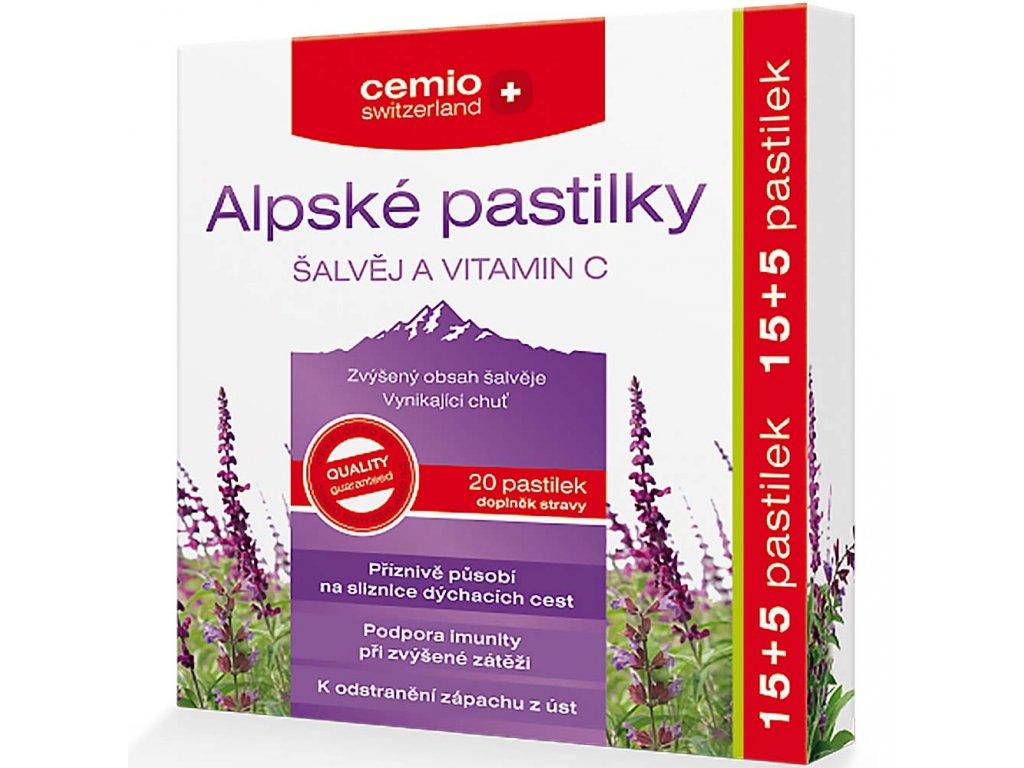cemio alpske pastilky salvej a vitamin c 15 5 pastilek zadarmo 2197841 1000x1000 fit