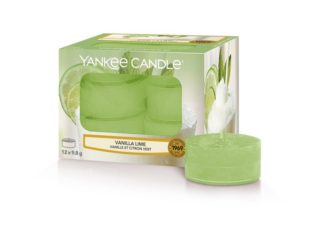 Yankee Candle Vanilla Lime vonná čajová svíčka 12 x 9,8g