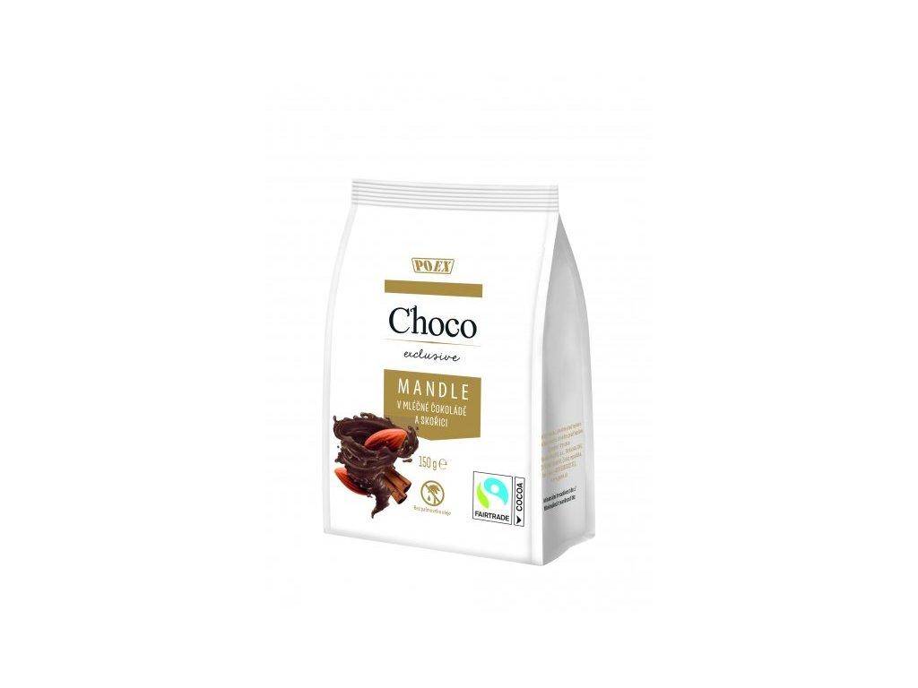 Mandle v mléčné čokoládě se skořicí 150g