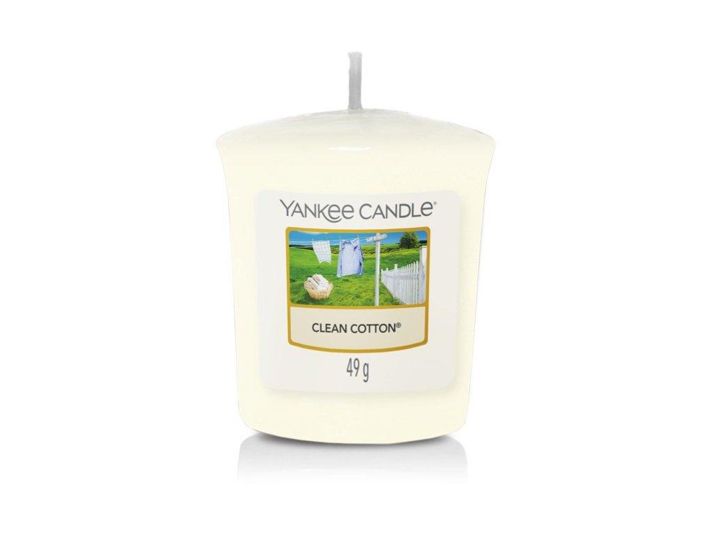 Yankee Candle Clean Cotton votivní vonná svíčka 49g