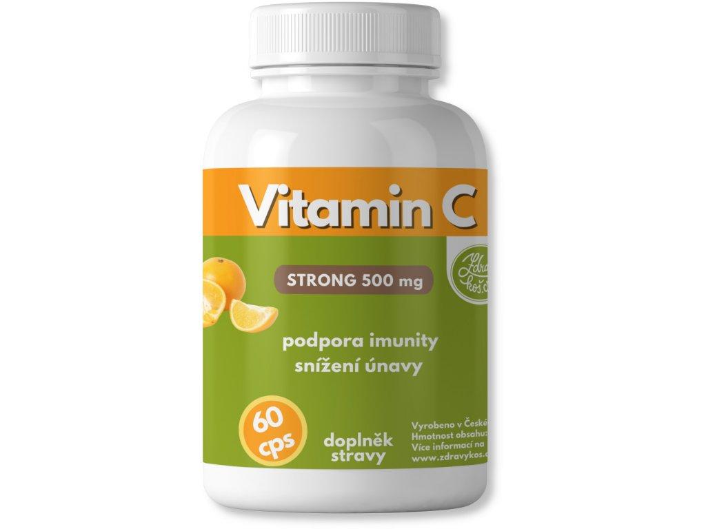 zdravýkoš vitamin c 500mg 60cps