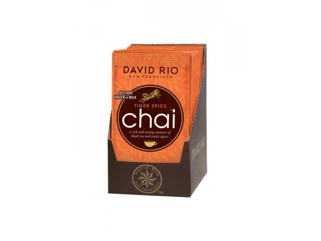 david rio tiger spice chai sacky display 12x28g bateriovy napenovac mleka jako darek