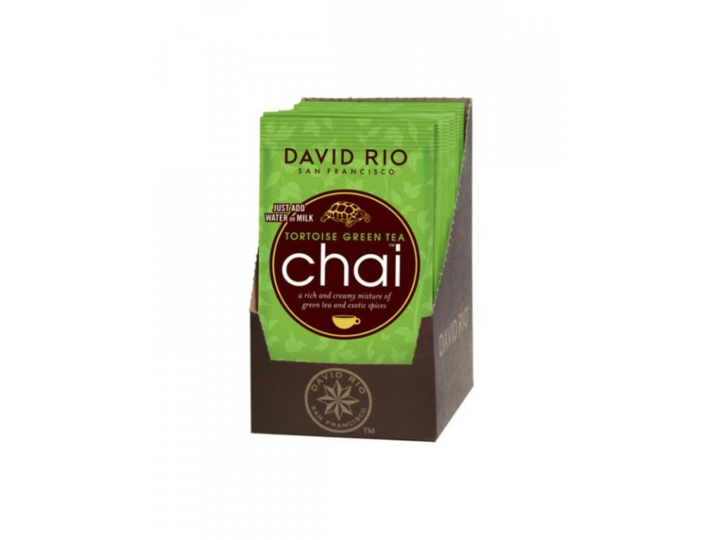 david rio tortoise green chai sacky display 12x28g bateriovy napenovac mleka jako darek