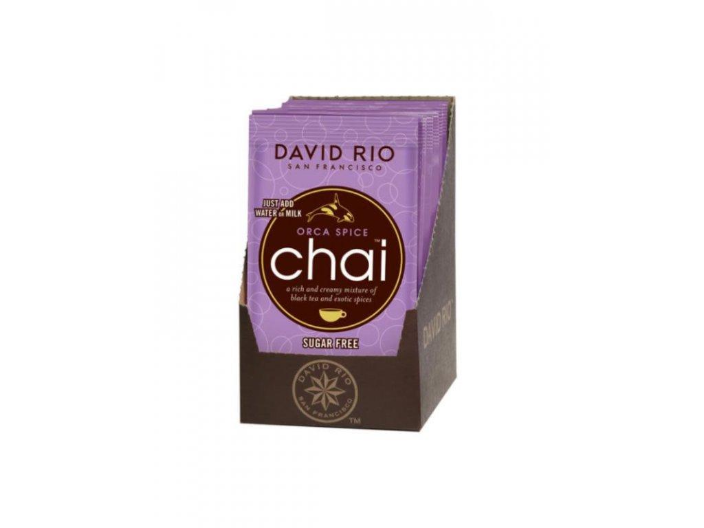 david rio orca spice sugarfree chai sacky display 12x28g