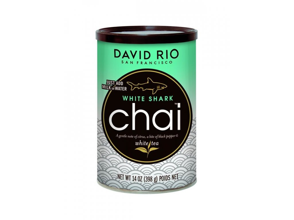 david rio white shark chai doza 398 g bateriovy napenovac mleka jako darek