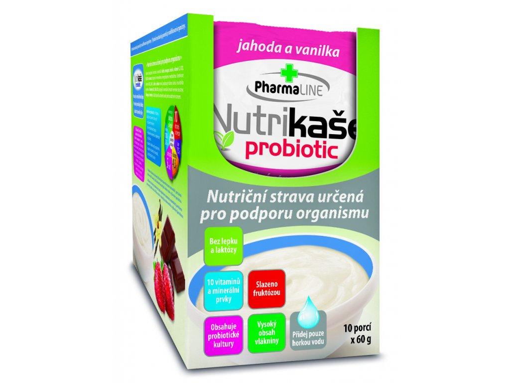 Nutrikaše JEDNOPORCOVKA s jahodami a vanilkou 60g 8595054905446