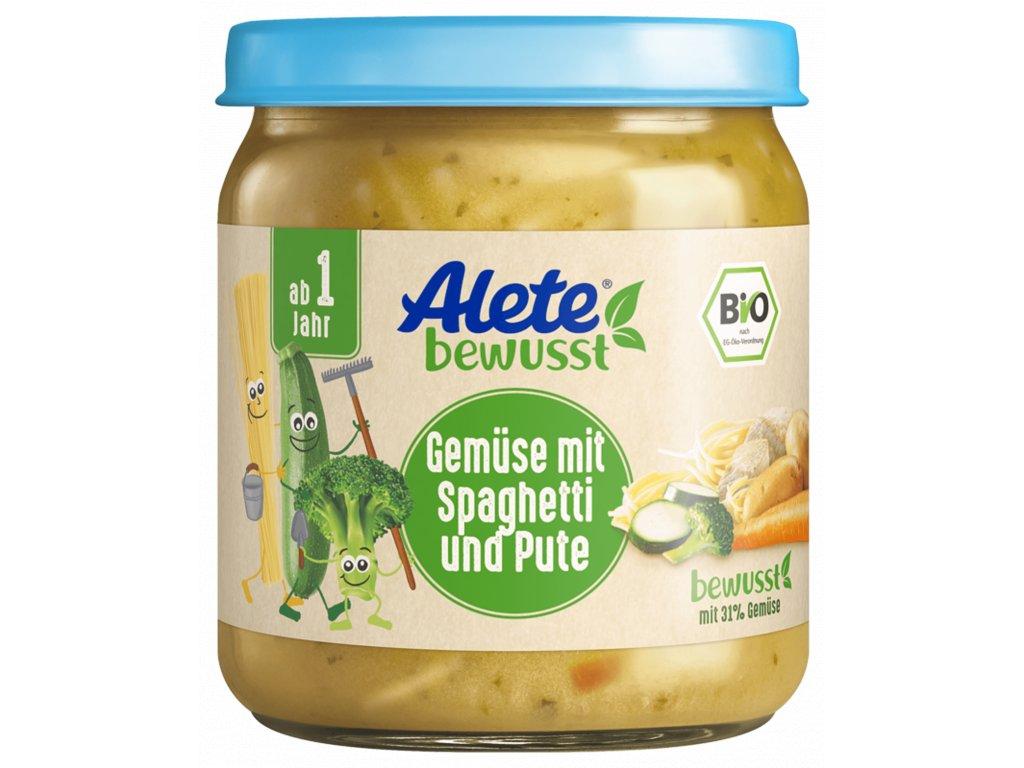 3133000 BIO Alete zelenina se špagetami a krůtím masem 250 g