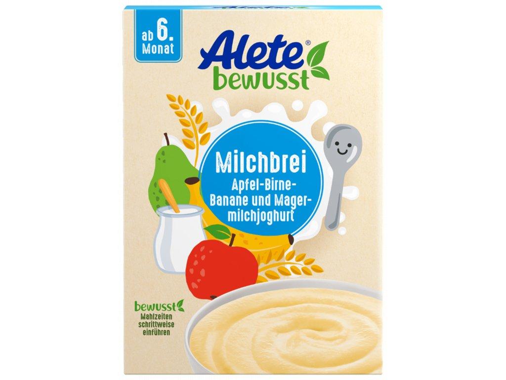 3138030 Alete obilno mléčná kaše snízkotučným jogurtem v prášku a ovocnými vločkami 400 g
