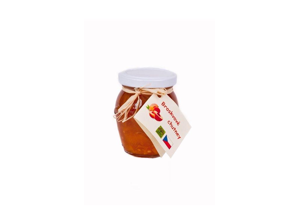 Broskvový džem s ořechy a třtinovým cukrem, 140ml