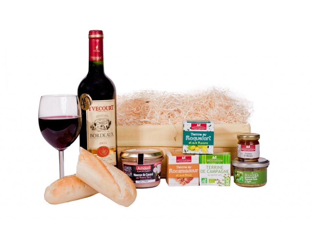Dárkový koš Francie Bordeaux